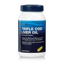 트리플 대구 간유 (90정), GNC Triple Cod Liver Oil 90 Softgel Capsules