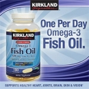 커크랜드 피쉬오일 1200mg (180정), Kirkland Omega3 Fish Oil 1200mg 180Sgels