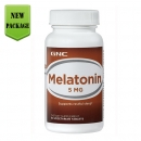 멜라토닌 5MG (60정), GNC Melatonin 5MG 60 Vegetarian Tablets