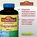 네이쳐 메이드 마그네슘 400mg (150정), Nature Made High Potency Magnesium 400mg 150 Liquid Sgels