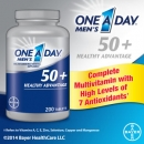 바이엘 남성용 원어데이 50 플러스( 200정), Bayer One A Day Men′s 50+ Healthy Advantage 200 Tablets