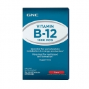 비타민 B12 1000MCG 체리 (120정), GNC Vitamin B-12 1000 MCG - Cherry 120 Vegetarian Lozenges