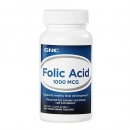 엽산 1000mcg (100정), GNC Folic Acid 1000 mcg 100 Vegetarian Tablets
