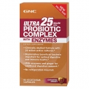 유산균 컴플렉스 CFUs 25 엔자임 (60정), GNC Ultra 25 Billion CFUs Probiotic Complex with Enzymes 60 Capsules